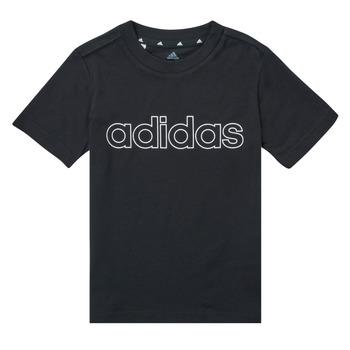 Vêtements Garçon T-shirts manches courtes adidas Performance SAMINA Noir