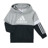 Vêtements Garçon Sweats adidas Performance CRAKA Gris / Noir