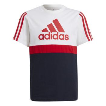 Vêtements Garçon T-shirts manches courtes adidas Performance GUILIA Blanc / Marine