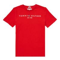 Vêtements Garçon T-shirts manches courtes Tommy Hilfiger SELINERA Rouge