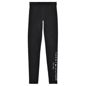 Vêtements Fille Leggings Tommy Hilfiger MELINDA Noir