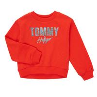 Vêtements Fille Sweats Tommy Hilfiger KOMELA Rouge