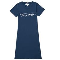 Vêtements Fille Robes courtes Tommy Hilfiger POLINE Marine