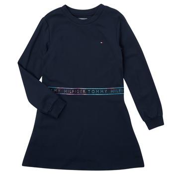 Vêtements Fille Robes courtes Tommy Hilfiger SOLIDA Marine