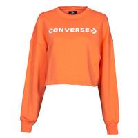 Vêtements Femme Sweats Converse EMBROIDERED WORDMARK CREW Orange