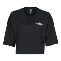 Vêtements Femme T-shirts manches courtes Converse CHUCK INSPIRED HYBRID FLOWER OVERSIZED CROPPED TEE Noir