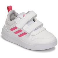 Chaussures Fille Baskets basses adidas Performance TENSAUR C Blanc / Rose