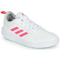 Chaussures Fille Baskets basses adidas Performance TENSAUR K Blanc / Rose