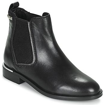 Chaussures Femme Boots Les Tropéziennes par M Belarbi MYLA Noir / Argenté