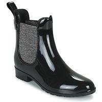 Chaussures Femme Bottes de pluie Les Tropéziennes par M Belarbi RAINBOO Noir / Argenté