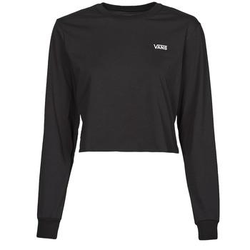 Vêtements Femme T-shirts manches longues Vans JUNIOR V LS CROP Noir