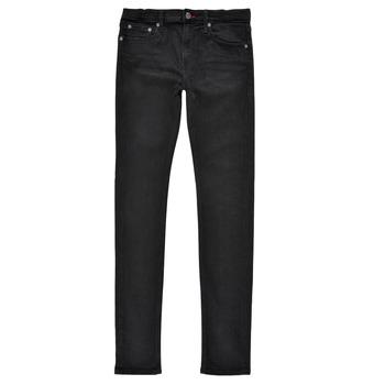 Vêtements Garçon Jeans skinny Teddy Smith FLASH SKINNY Noir