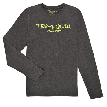 Vêtements Garçon T-shirts manches longues Teddy Smith TICLASS3 ML Gris