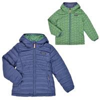 Vêtements Fille Doudounes Patagonia REVERSIBLE DOWN SWEATER HOODY Bleu