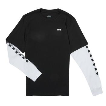Vêtements Garçon T-shirts manches longues Vans LONG CHECK TWOFER Noir