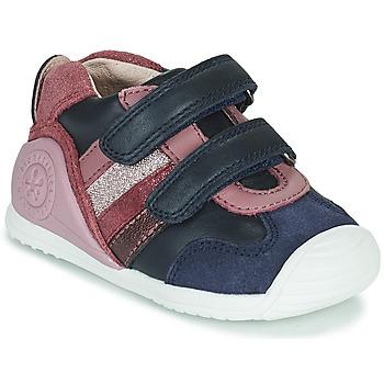 Chaussures Fille Baskets basses Biomecanics BIOGATEO SPORT Marine / Rose