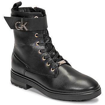 Chaussures Femme Bottines Calvin Klein Jeans CLEAT BIKER BOOT Noir