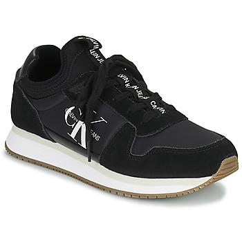Chaussures Femme Baskets basses Calvin Klein Jeans RUNNER LACEUP Noir