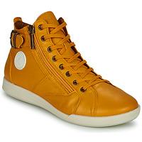 Chaussures Femme Baskets montantes Pataugas PALME Ocre