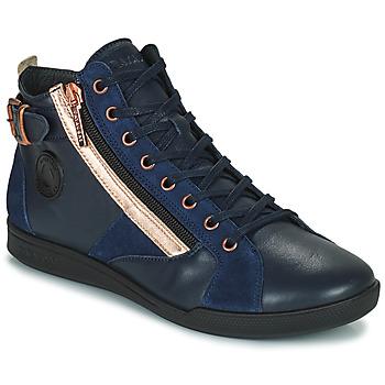 Chaussures Femme Baskets montantes Pataugas PALME Marine / Rose