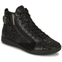 Chaussures Femme Baskets montantes Pataugas PALME Noir / Glitter