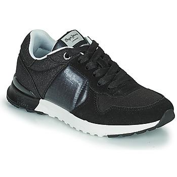 Chaussures Femme Baskets basses Pepe jeans VERONA PRO FUN Noir