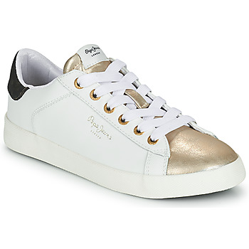 Chaussures Femme Baskets basses Pepe jeans KIOTO SELLY Blanc / Doré