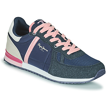 Chaussures Fille Baskets basses Pepe jeans SYDNEY COMBI GIRL Marine / Rose