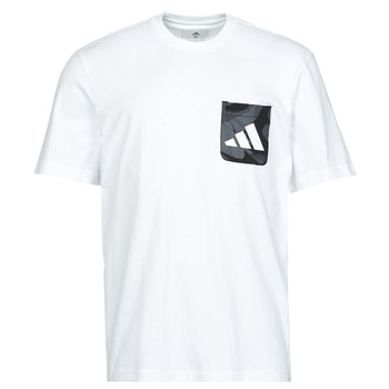 Vêtements Homme T-shirts manches courtes adidas Performance CAMO PKT TEE Blanc