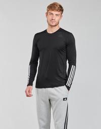Vêtements Homme T-shirts manches longues adidas Performance TF LS FT 3S Noir