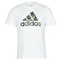 Vêtements Homme T-shirts manches courtes adidas Performance M CAMO T Blanc