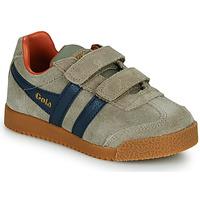 Chaussures Enfant Baskets basses Gola HARRIER STRAP Beige / Bleu