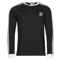 Vêtements Homme T-shirts manches longues adidas Originals 3-STRIPES LS T Noir