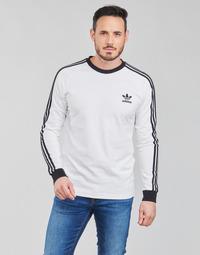 Vêtements Homme T-shirts manches longues adidas Originals 3-STRIPES LS T Blanc