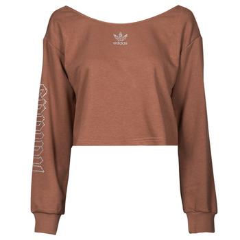 Vêtements Femme Sweats adidas Originals SLOUCHY CREW? Marron