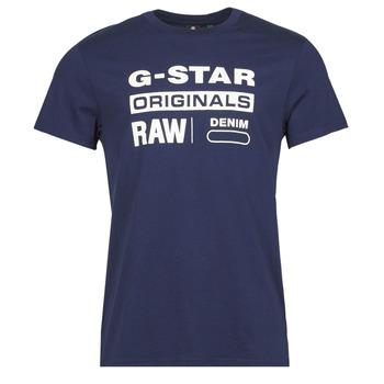 Vêtements Homme T-shirts manches courtes G-Star Raw GRAPHIC 8 R T SS Bleu