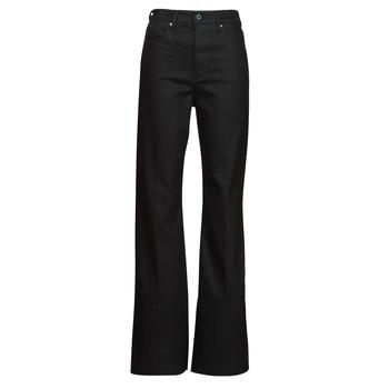 Vêtements Femme Jeans bootcut G-Star Raw DECK ULTRA HIGH WIDE LEG Noir