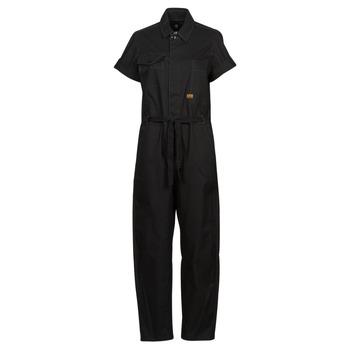 Vêtements Femme Combinaisons / Salopettes G-Star Raw ARMY JUMPSUIT SS Noir