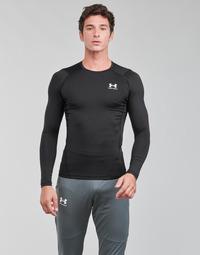 Vêtements Homme T-shirts manches longues Under Armour UA HG ARMOUR COMP LS Noir / Blanc