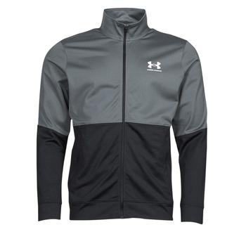 Vêtements Homme Sweats Under Armour UA PIQUE TRACK JACKET Gris / Blanc