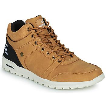 Chaussures Homme Baskets montantes Kaporal DAWSON Camel / Noir