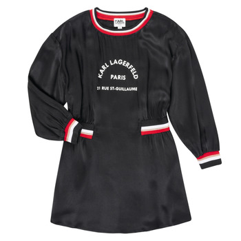 Vêtements Fille Robes courtes Karl Lagerfeld RUBIS Noir