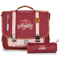 Sacs Fille Cartables Ooban's FUNNY LOS ANGELES CARTABLE 38 CM Rose