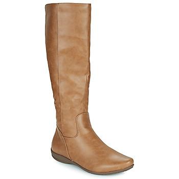 Chaussures Femme Bottes ville Moony Mood GURLEN Camel
