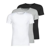 Vêtements Homme T-shirts manches courtes Tommy Hilfiger STRETCH TEE X3 Blanc / Gris / Noir
