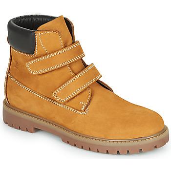 Chaussures Garçon Boots Citrouille et Compagnie PAXA Camel