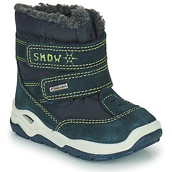 Chaussures Garçon Bottes de neige Citrouille et Compagnie POUDOU Bleu/vert