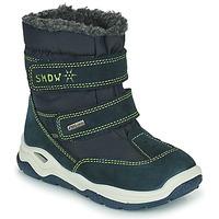 Chaussures Fille Bottes de neige Citrouille et Compagnie POUDOU Bleu/vert