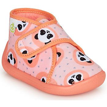 Chaussures Fille Chaussons Citrouille et Compagnie PASTACARBO Saumon