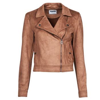 Vêtements Femme Vestes en cuir / synthétiques Noisy May NMROCKY Cognac